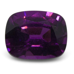 Rhodolite Garnet 1.68 cts 7.44x5.96x4.19mm Cushion Purple  $250