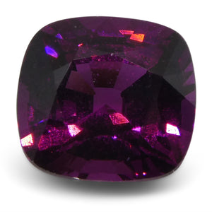Rhodolite Garnet 2.24 cts 7.34x6.93x4.84mm Cushion Slightly Reddish Purple - Purple  $180