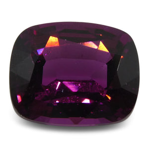 Rhodolite Garnet 2.38 cts 8.20x6.71x4.43mm Cushion Slightly Reddish Purple - Purple  $190