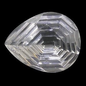 White Quartz 26.74 cts 25.30x20.30x12 mm Pear White / Clear  $270