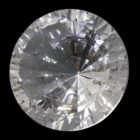 25.91ct Round White Quartz Fantasy/Fancy Cut