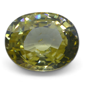 Natural Yellow Zircon 4.36 cts 10.32x8.29x4.96mm Oval Yellow  $350