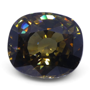 5.79 ct Orangy Yellow Natural Zircon Cushion Extremely Fine Quality - Skyjems Wholesale Gemstones