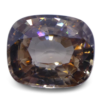 3.92 ct pinkish Orange Natural Zircon Cushion Extremely Fine Quality - Skyjems Wholesale Gemstones