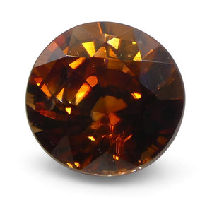 1.15 ct Round Orange Natural Zircon - Skyjems Wholesale Gemstones