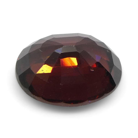 1.86 ct Oval Red Zircon