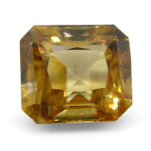 Zircon 2.75 cts 6.99x6.32x4.66mm Emerald Cut orange Yellow  $330