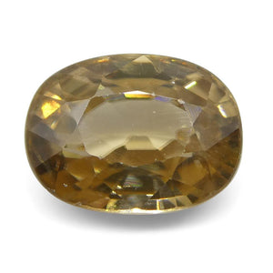 Zircon 2.51 cts 8.21x6.19x4.33mm Oval very slightly orange Yellow  $310