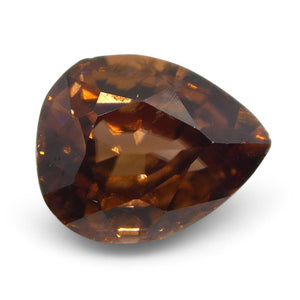 Zircon 2.08 cts 8.03x6.49x4.26mm Pear Shape pink Orange  $250