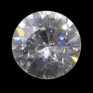 1.64 ct Round White/Clear Natural Zircon - Skyjems Wholesale Gemstones