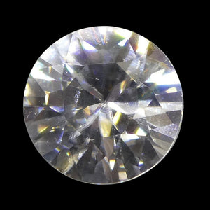 1.82 ct Round White/Clear Natural Zircon - Skyjems Wholesale Gemstones