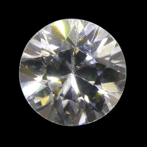 1.89 ct Round White/Clear Natural Zircon - Skyjems Wholesale Gemstones