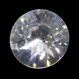 1.76 ct Round White/Clear Natural Zircon - Skyjems Wholesale Gemstones