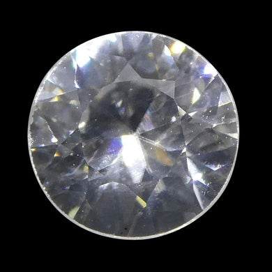 1.13 ct Round White/Clear Natural Zircon - Skyjems Wholesale Gemstones