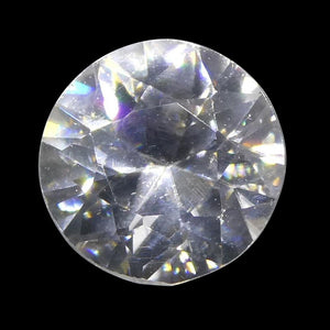 1.24 ct Round White/Clear Natural Zircon - Skyjems Wholesale Gemstones