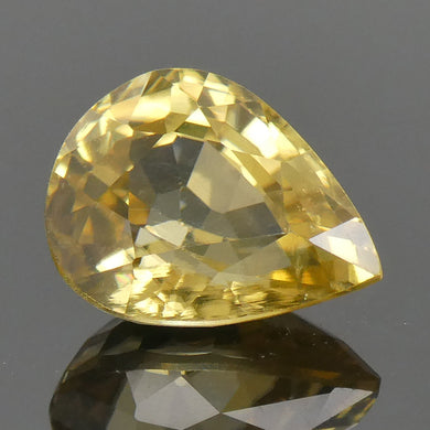 2.76ct Pear Yellow Zircon - Skyjems Wholesale Gemstones