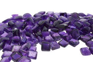 AMETHYST 110cts 34st Cabochon/Cab 8mm Square WHOLESALE LOT