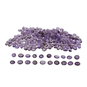 AMETHYST 220 cts 60st Oval WHOLESALE LOT