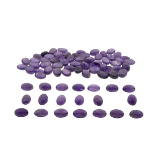 AMETHYST 400 cts 30st Cabochon/Cab Oval WHOLESALE LOT