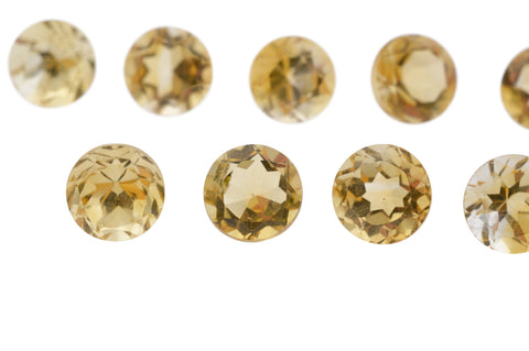 CITRINE 125 cts 178 st Round WHOLESALE LOT