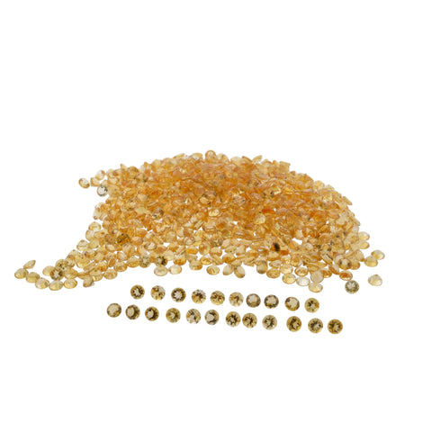 CITRINE 175cts 140 st 7 mm Round WHOLESALE LOT