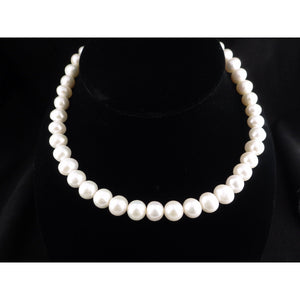 "Pearl Necklace 16"" With Silver Clasp"