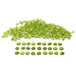 Peridot 50cts 17st 10x8mm Oval WHOLESALE LOT - Skyjems Wholesale Gemstones