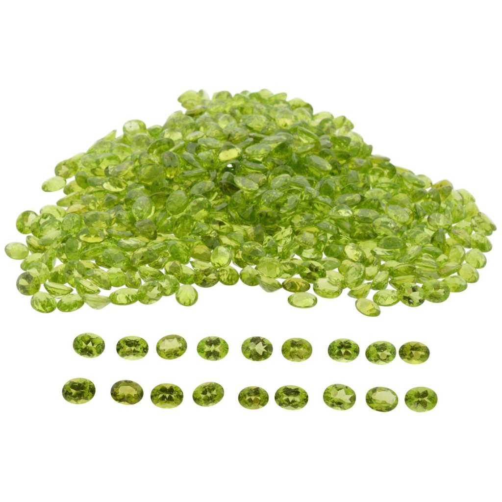 Peridot 50cts 26st 9x7mm Oval WHOLESALE LOT