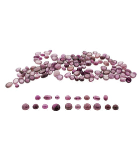 Rubelite Tourmaline 57cts 142st Mix Round/Oval Wholesale Lot
