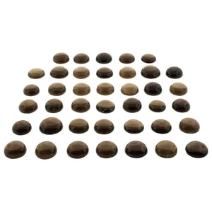 Smoky Quartz 1000cts 40st Cabochon Round Wholesale Lot - Skyjems Wholesale Gemstones
