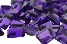 SYNTHETIC AMETHYST 500 cts 55st Emerald Cut WHOLESALE LOT