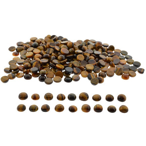 Tiger Eye 727cts 245st Mixed Size Round WHOLESALE LOT