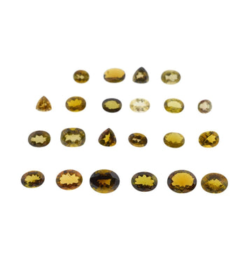 Golden Tourmaline 31cts 22st Mix Oval/Triangle Wholesale Lot
