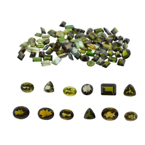 Tourmaline 84.79 cts 100st Oval/Pear/Emerald Cut/Triangle Wholesale Lot