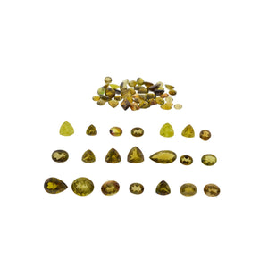 Tourmaline 87.87 cts 64st Oval/Pear/Round/Triangle Wholesale Lot