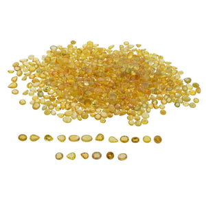 YELLOW SAPPHIRE 115 cts 380st Oval/Round/Pear WHOLESALE LOT