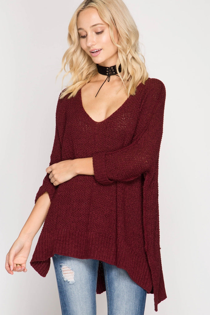 Hi-Lo Pullover Sweater