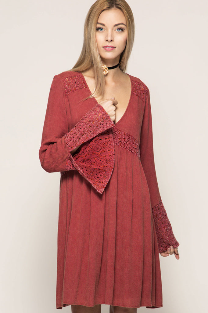 Bell Sleeved Babe Dress