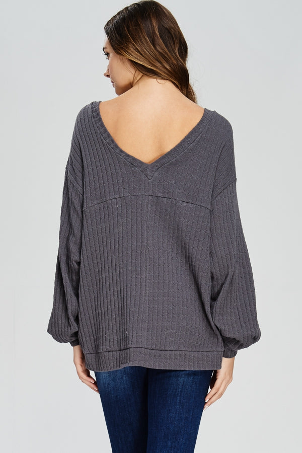 Cinched Sleeve Sweater