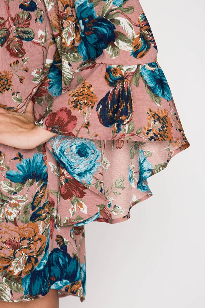 Forever Floral Off-Shoulder Dress