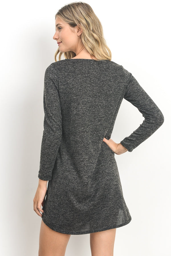 Criss-Cross Tunic Dress