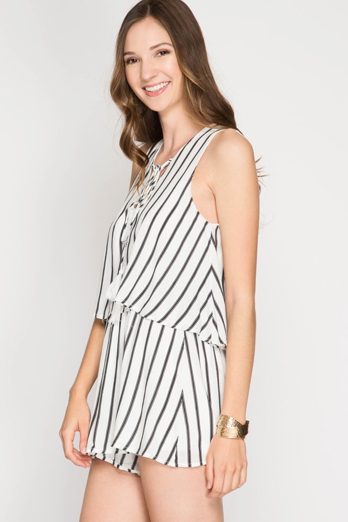 Sucker for Stripes Romper