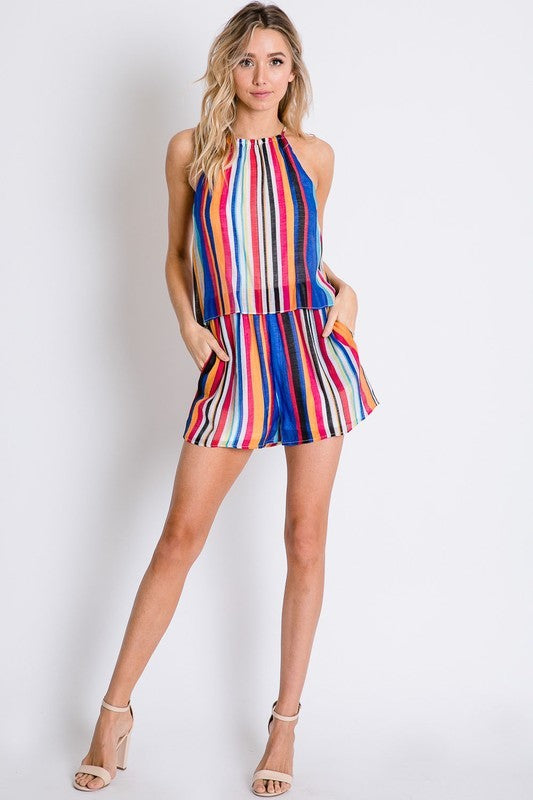 Summer of Stripes Romper