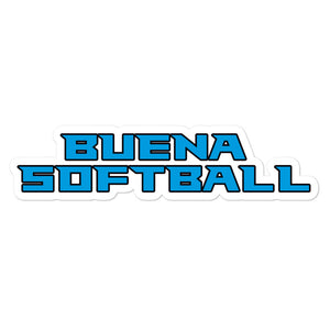 Buena Softball Bubble-free stickers