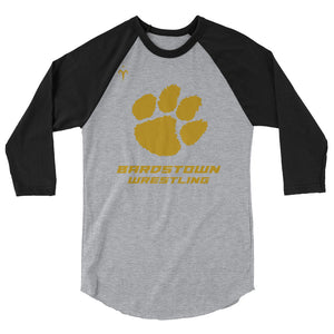 Bardstown Wrestling 3/4 sleeve raglan shirt