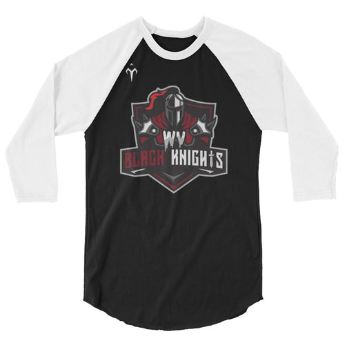 West Virginia Black Knights 3/4 sleeve raglan shirt
