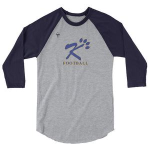 Kingman Football 3/4 sleeve raglan shirt