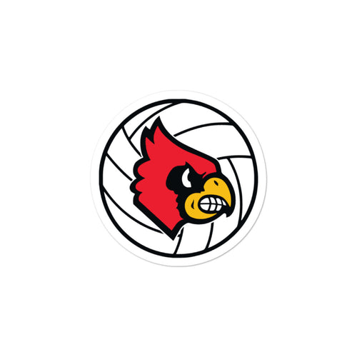 Louisville Volleyball Bubble-free stickers