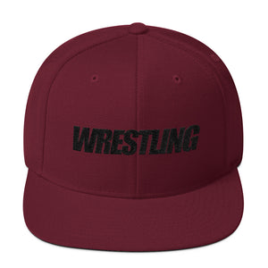 Black Wrestling Wool Blend Snapback