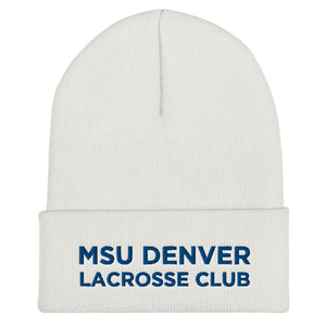 MSU Denver Lacrosse Club Cuffed Beanie